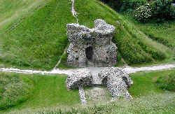 The castle ruins at Castle Acre