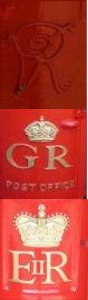 Postboxes from George, Victoria and Queen Elizabeth's reign